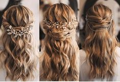 30 Wedding Hairstyles 2019 Ideas ❤️ We have wedding make-up ideas … … – Excellent Hair Styles Wedding Hair And Makeup, Wedding Beauty, Bridal Hair, Hair Makeup, Modern Hairstyles, Bride Hairstyles, Pretty Hairstyles, Casual Wedding Hairstyles, Bridesmaid Hair
