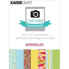 Captured Moments Double-Sided Cards, 3 inch x 4 inch, 48-Pack, Sprinkles, Assorted