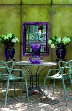 purple and green. love it. * T h e * V i s u a l * V a m p *