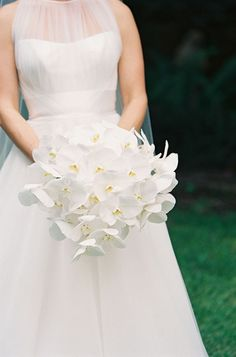 gorgeous white orchid bouquet | Virgil Bunao #wedding