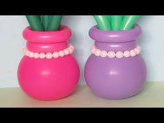 How to make the stable flower pot of balloons (revised version)
