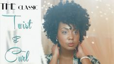 Read on to see how I achieve this timeless & classic twist & curl natural hairstyle with absolutely no heat...