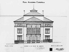 Alzado del edificio de la RAE Sierra, Architects, Buildings, History