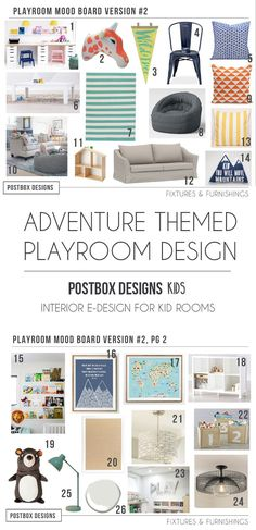 Introducing Postbox Designs KIDS: Online Interior Design for Kid Room Designs! Custom Interior E-Design for All Things Kid: Playroom Design, Kid Bedroom Design, Nursery Design & Bonus Room Design, Girl Bedroom Design, Boy Bedroom Design Ideas! Kids Bedroom Designs, Playroom Design, Kids Room Design, Modern Playroom, Kid Playroom, Kid Rooms, Playroom Ideas, Nursery Design, Bonus Room Design