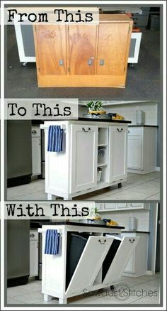 just something small to keep trash & recycle....and a little bit of counter space as well....