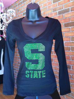 State rhinestone shirt