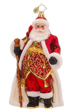 Christopher Radko 'Vest Day of the Year' Santa Ornament available at #Nordstrom