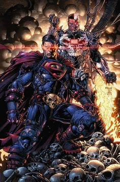 Superman and Cyborg by David Finch