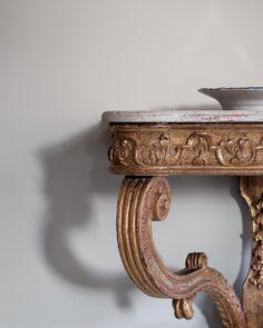 18th Century Swedish Baroque Console Table.