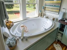 Blog Cabin's Garden Tub