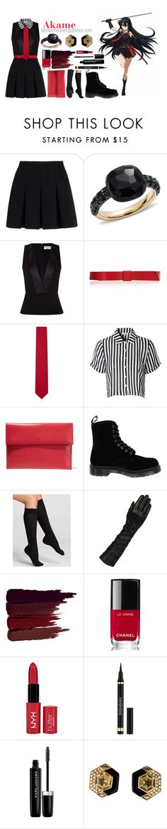 """Akame ga Kill! - Akame"" by fandomheaven ❤ liked on Polyvore featuring Alexander Wang, Pomellato, Balenciaga, Marni, Salvatore Ferragamo, Glamorous, Dr. Martens, Falke, Wilsons Leather and Serge Lutens"