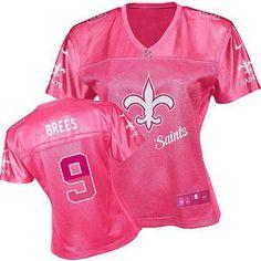 c33d05dca65 Women's Nike New Orleans Saints #9 Drew Brees Elite Pink Fem Fan Jersey Nfl  Womens