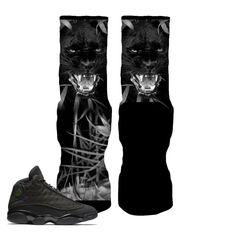 86baff6308c24e Jordan 13 Black Cat Socks - Jungle Panther