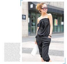 Aliexpress.com : Buy Free Shipping Women Summer Clothing Women Jumpsuits Cute Strapless Big Bow Rompers W0111 from Reliable Women Summer Rompers suppliers on SICIBAY - Kids' Clothing:Selling for Donating
