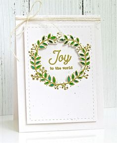 Joy To The World Card by Michelle Leone for Papertrey Ink (September 2017)