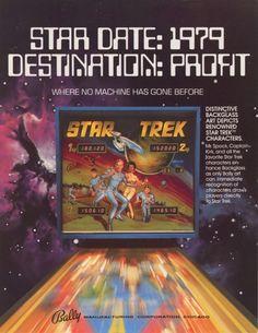 "Original Flyer from Bally's classic 1979 ""Star Trek""...worth big bucks!!!"