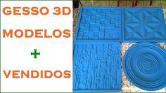 MODELOS DE FORMAS P/ PLACAS DE GESSO 3D MAIS VENDIDOS