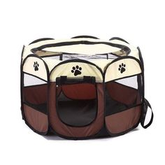 Sturdy Dog Cage Portable Foldable Playpen Pet Dog Crate Room Puppy Exercise Kennel Cat Cage Water Resistant Outdoor Removable Mesh Shade Cover Durable * Be sure to check out this awesome product. (This is an affiliate link) Puppy Playpen, Puppy Kennel, Puppy Pens, Cat Cages, Outdoor Cats, Outdoor Spaces, Indoor Outdoor, Pet Dogs, Pets