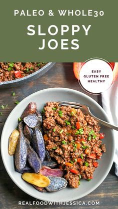 These Sloppy Joes are Paleo & Whole30 approved, with so much more flavor than you'll get from the can and can be made in just 30 minutes. Best Gluten Free Recipes, Whole 30 Recipes, Beef Recipes, Real Food Recipes, Healthy Recipes, I Love Food, Good Food, Fancy Dinner Recipes, Unprocessed Food