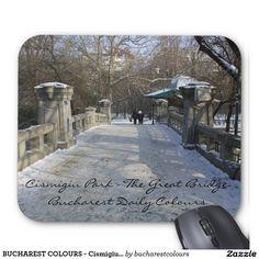BUCHAREST COLOURS - Cismigiu Great Bridge Mouse Pad Worldwide Travel, Bucharest, Bridge, Beautiful Pictures, Colours, Outdoor, Design, Outdoors, Bro