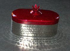 Judaica Travel Tea Candle Holders Candlesticks Shabbat Holiday Pomegranate Red
