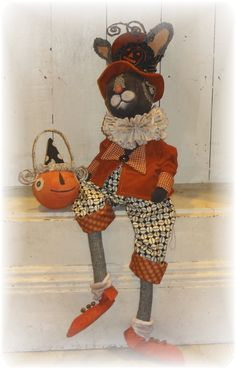 Halloween Black Jack Rabbit  by The Pixie's Thimble