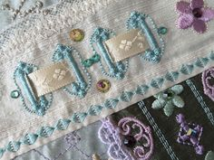 Close up of detail on Romantic Crazy Quilt 10 http://gracefulembroidery.com/romanticrazy10
