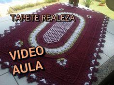 Tapete Oval Russo em crochê Parte 3 Por Vanessa Marcondes - YouTube