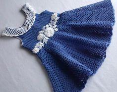 vestidos de croche infantil - Pesquisa Google
