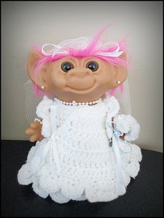 Vintage 80s Uneeda Bride Troll Doll by CharchaicVintage on Etsy, $20.00
