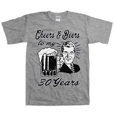Retro hombre 30 cumpleaños camiseta regalo para por BirthdayThreads