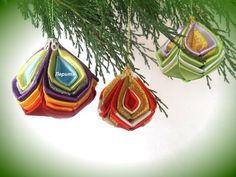 Новогодние игрушки на ёлку, ёлочные шарики своими руками,  Лерита. - YouTube