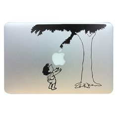 """awesome Child under the tree Funny Vinyl Laptop Skin Decal fits for Apple Macbook Pro / Air 13"""" Pro 13inch retina Gift for Christmas"""