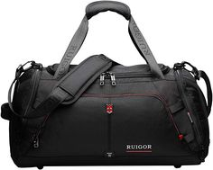 online shopping for Sport Gym Duffel Bag, Water Resistant, Large Sports Duffel Swiss RUIGOR - Black from top store. See new offer for Sport Gym Duffel Bag, Water Resistant, Large Sports Duffel Swiss RUIGOR - Black Jansport Right Pack, Mens Satchel, Laptop Tote, Carry All Bag, Messenger Bag Men, Womens Fashion Sneakers, Girls Bags, Leather Briefcase, Duffel Bag