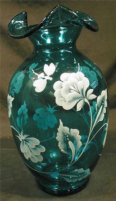 Fenton, Bill Fenton Memorial Vase 1923-2002, Signed