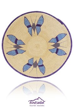31cm gallery grade sisal handwoven basket by Tintsaba in Swaziland.