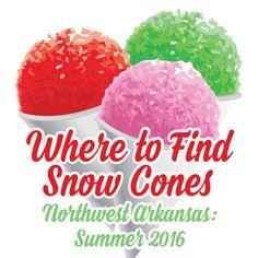 Summer 2016: Where to Find Snow Cones in Northwest Arkansas