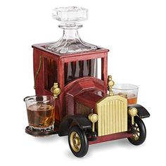 Vintage Car Whiskey Decanter Set with Glasses Birthday Gag Gifts, Birthday Gift For Him, 85th Birthday, Gag Gifts For Men, Personalized Gifts For Men, Old Fashioned Cars, Birthday Coffee, Perfect Glass, Wine Gift Baskets