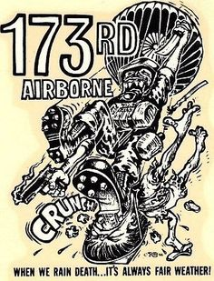 ORIGINAL VINTAGE ED ROTH DECAL ARMY 173rd AIRBORNE 1966 RANGER HOT ROD CHOPPER