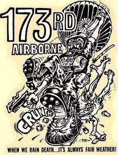ORIGINAL VINTAGE ED ROTH DECAL ARMY 173rd AIRBORNE 1966 RANGER HOT ROD CHOPPER