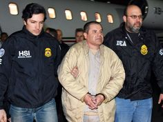 "The notorious Mexican drug kingpin Joaquin ""El Chapo"" Guzman arrived in New York on Thursday evening after his extradition to the United States"