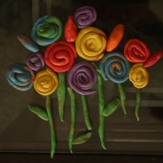 how to make clay flowers | ... clay these days. I showed him how we can make flowers,buds and leaves