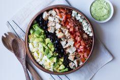 Cobb Salad with Green Goddess Dressing  #justeatrealfood #thedomesticman