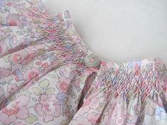 smocks pastels, Liberty Betsy rose dragée Smocking Plates, Smocking Patterns, Liberty Betsy, Liberty Print, Smocks, Heirloom Sewing, Liberty Of London, Rose Dress, Baby Crafts