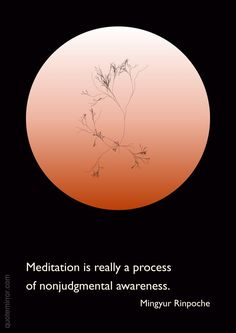 """Meditation is really a process of nonjudgmental awareness."" www.yolci.com"