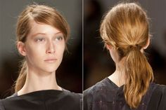 Fall Hair Trends to Try: Messy low pony at Richard Chai Love