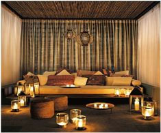 marokkanische Interior Designs  wohnzimmer kerzen vorhänge samt