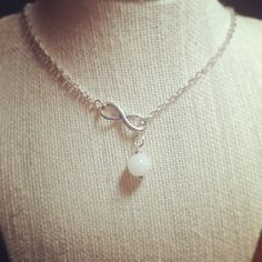 Breastmilk infinity pearl necklace. - Hollyday Designs.