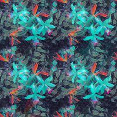 Tropical Fairy Tale by Simonetta De Simone Seamless Repeat  Royalty-Free Stock Pattern