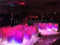 Glow Cotton Candy for SC High School winter ball.
